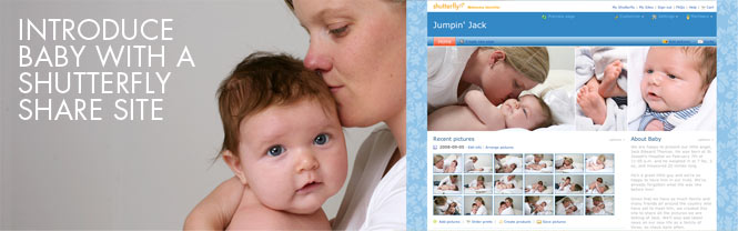 Introduce Baby With A Shutterfly Share Site